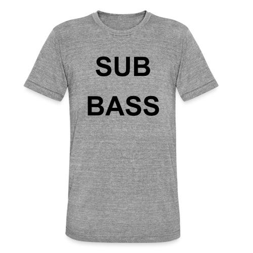 sub bass - Unisex tri-blend T-shirt van Bella + Canvas