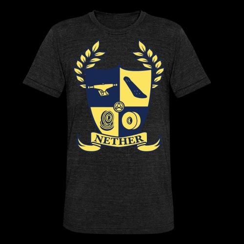 Nether College T-Shirt - Maglietta unisex tri-blend di Bella + Canvas
