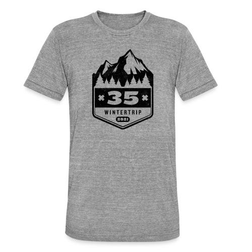 35 ✕ WINTERTRIP ✕ 2021 • BLACK - Unisex tri-blend T-shirt van Bella + Canvas