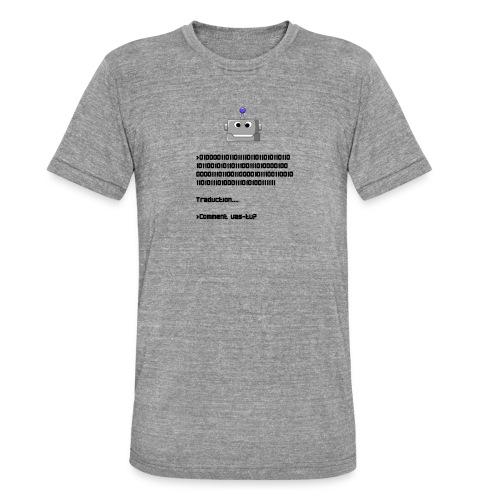 Salutation robotique - T-shirt chiné Bella + Canvas Unisexe