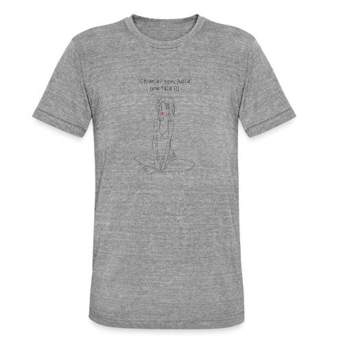 fille chiante - T-shirt chiné Bella + Canvas Unisexe