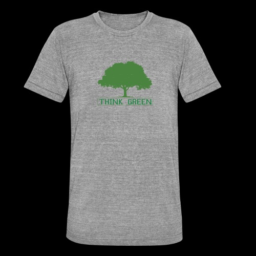 think green - Camiseta Tri-Blend unisex de Bella + Canvas