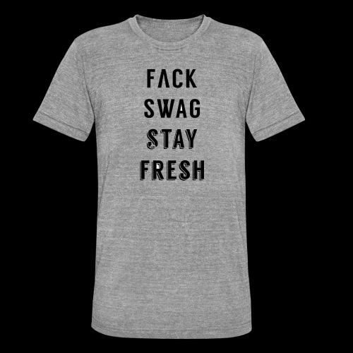 Fack Swag Tee - Camiseta Tri-Blend unisex de Bella + Canvas