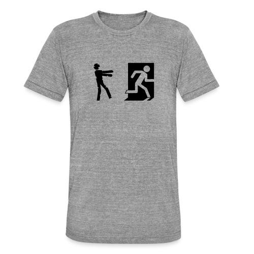 Zombie Invasion Notausgang - Unisex Tri-Blend T-Shirt von Bella + Canvas