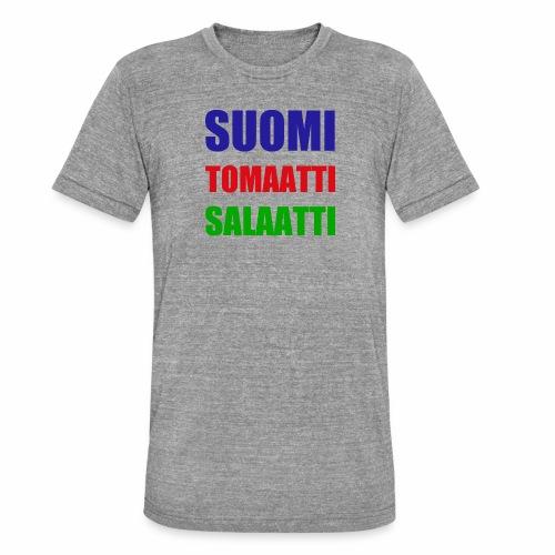 SUOMI SALAATTI tomater - Unisex tri-blend T-skjorte fra Bella + Canvas