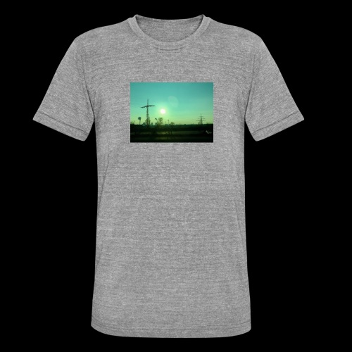 pollution - Unisex tri-blend T-shirt van Bella + Canvas