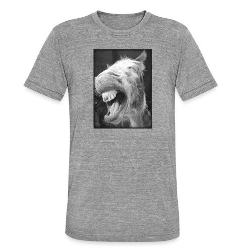 lachender Esel - Unisex Tri-Blend T-Shirt von Bella + Canvas
