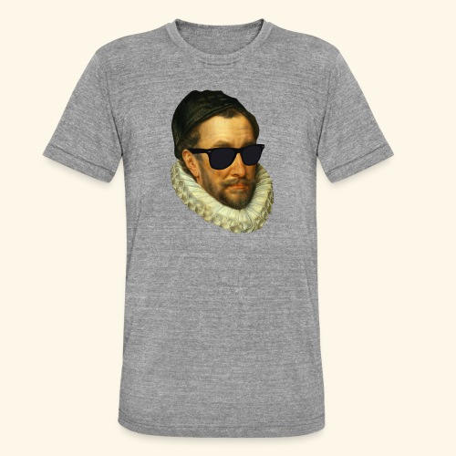 Fijn Uitgedoste Barbaar (zonder tekst) - Unisex tri-blend T-shirt van Bella + Canvas