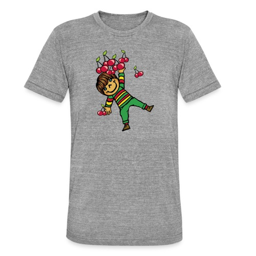 08 kinder kapuzenpullover hinten - Unisex Tri-Blend T-Shirt von Bella + Canvas