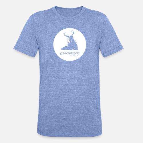 geweihbär - Unisex Tri-Blend T-Shirt von Bella + Canvas
