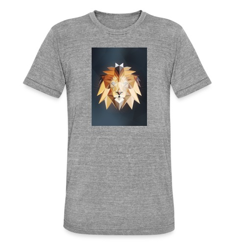 Polygon Lion - Unisex Tri-Blend T-Shirt von Bella + Canvas
