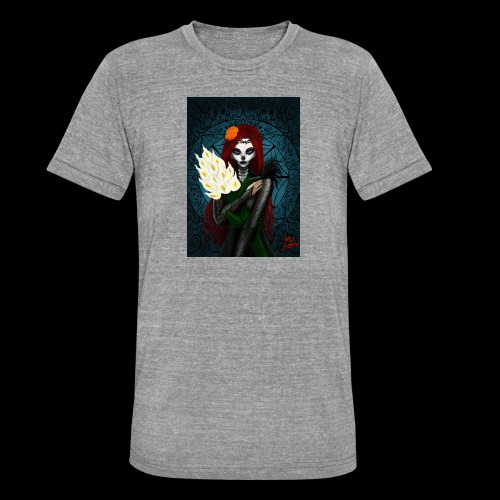 Death and lillies - Unisex Tri-Blend T-Shirt by Bella & Canvas