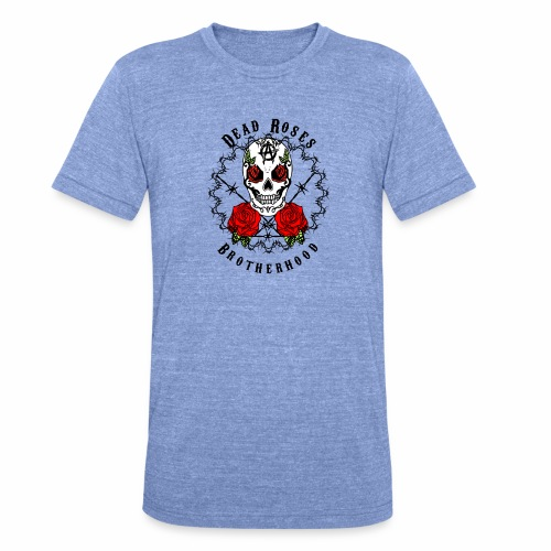 Dead Roses 2nd Logo - Unisex Tri-Blend T-Shirt by Bella & Canvas