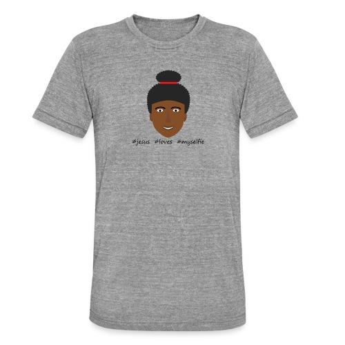 jesus loves myselfie - Unisex Tri-Blend T-Shirt von Bella + Canvas