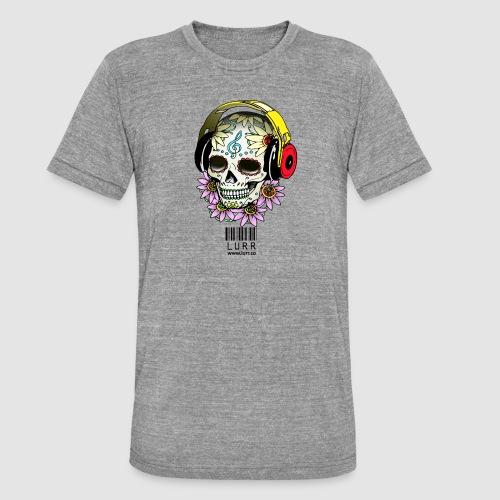 smiling_skull - Unisex Tri-Blend T-Shirt by Bella & Canvas