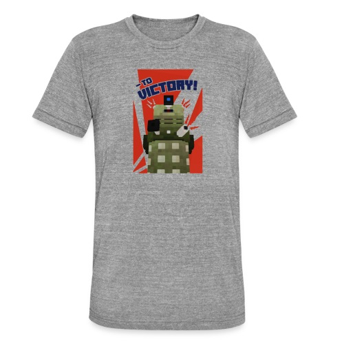 Dalek Mod - To Victory - Unisex Tri-Blend T-Shirt by Bella & Canvas