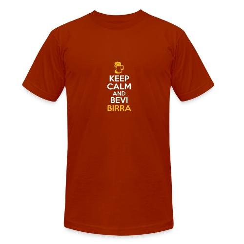 KEEP CALM AND BEVI BIRRA - Maglietta unisex tri-blend di Bella + Canvas