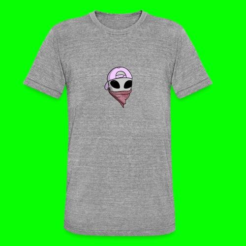 gangsta alien logo - Maglietta unisex tri-blend di Bella + Canvas