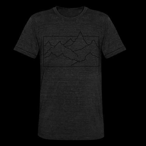 Kontur Gebirge schwarz - Unisex Tri-Blend T-Shirt von Bella + Canvas