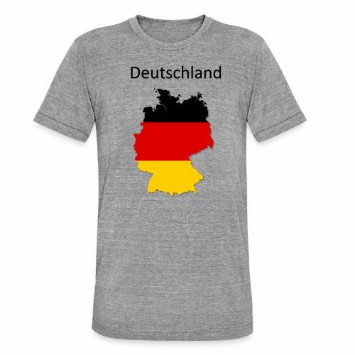 Deutschland Karte - Unisex Tri-Blend T-Shirt von Bella + Canvas