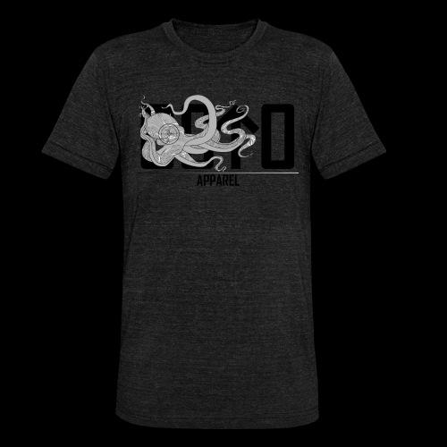 OctoApparel Logo schwarz - Unisex Tri-Blend T-Shirt von Bella + Canvas