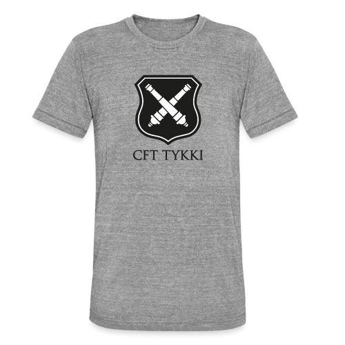 Tykki logo musta - Bella + Canvasin unisex Tri-Blend t-paita.