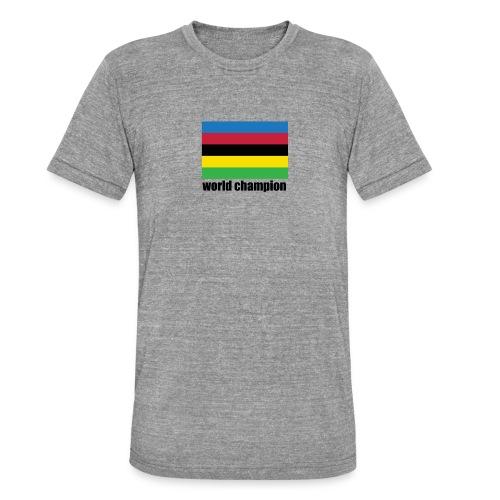 world champion cycling stripes - Unisex tri-blend T-shirt van Bella + Canvas