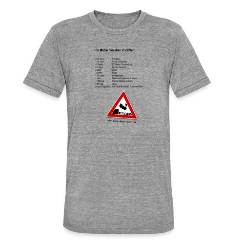 Menschenleben in Zahlen - Unisex Tri-Blend T-Shirt von Bella + Canvas