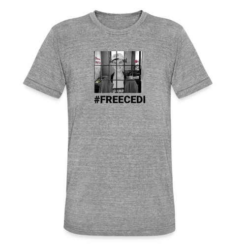 #FREECEDI - Unisex Tri-Blend T-Shirt von Bella + Canvas