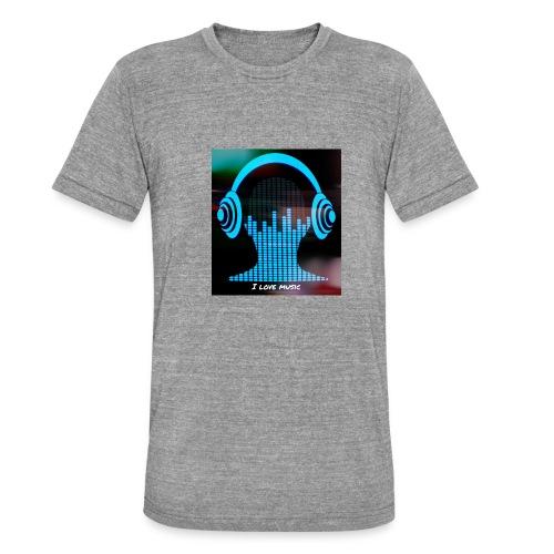 I love music - Camiseta Tri-Blend unisex de Bella + Canvas