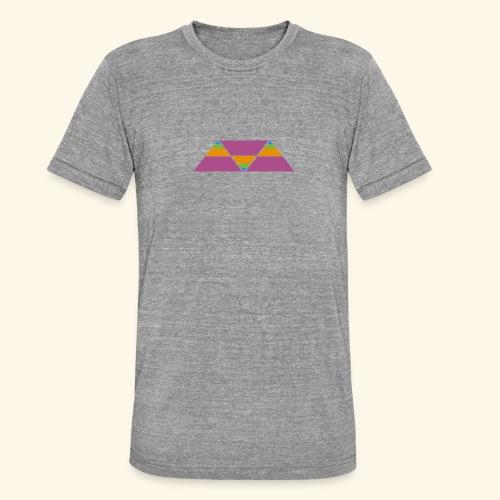 triangulos - Camiseta Tri-Blend unisex de Bella + Canvas