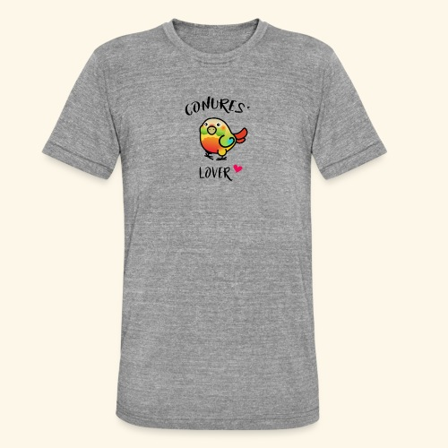 Conures' Lover: Ananas - T-shirt chiné Bella + Canvas Unisexe