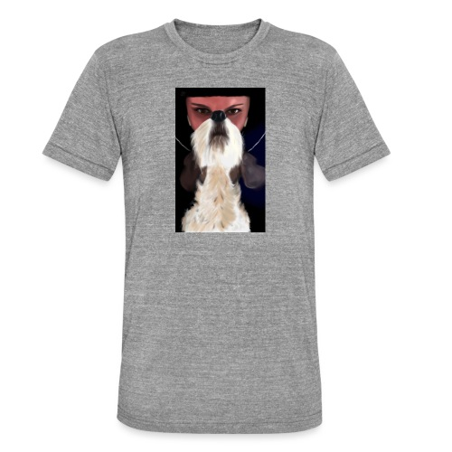 She and jack russell terrier - Koszulka Bella + Canvas triblend – typu unisex