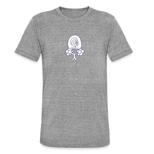 Poppetje 1 oog - Unisex tri-blend T-shirt van Bella + Canvas