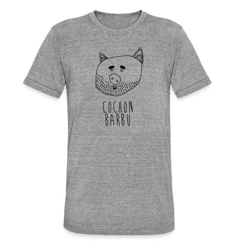 Cochon barbu - T-shirt chiné Bella + Canvas Unisexe