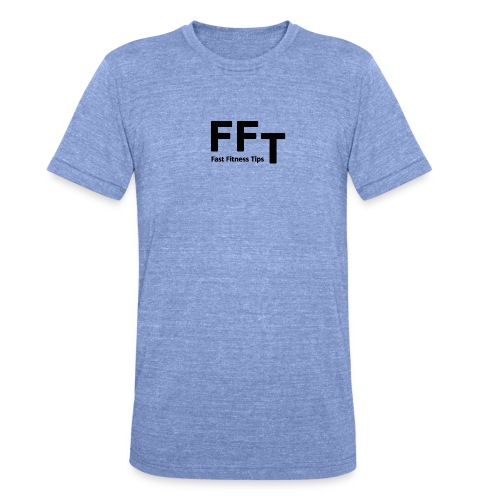 FFT simple logo letters - Unisex Tri-Blend T-Shirt by Bella & Canvas