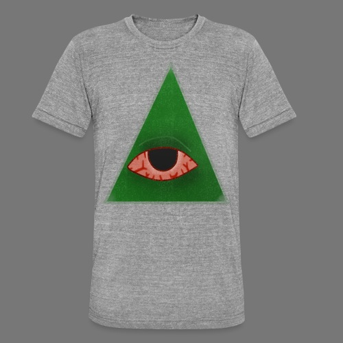 illuminati eye - Camiseta Tri-Blend unisex de Bella + Canvas
