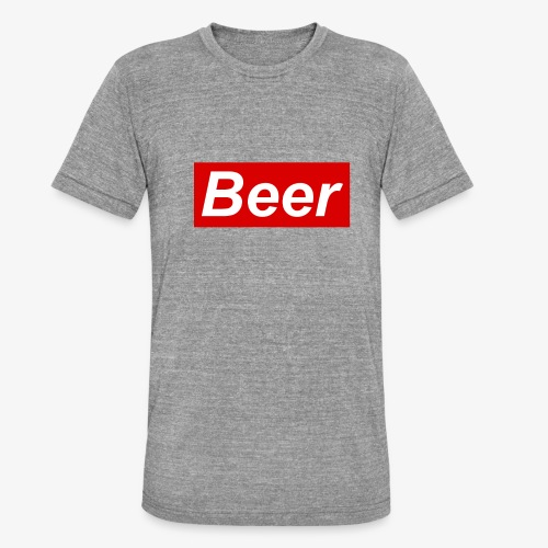 Beer. Red limited edition - Unisex tri-blend T-shirt van Bella + Canvas