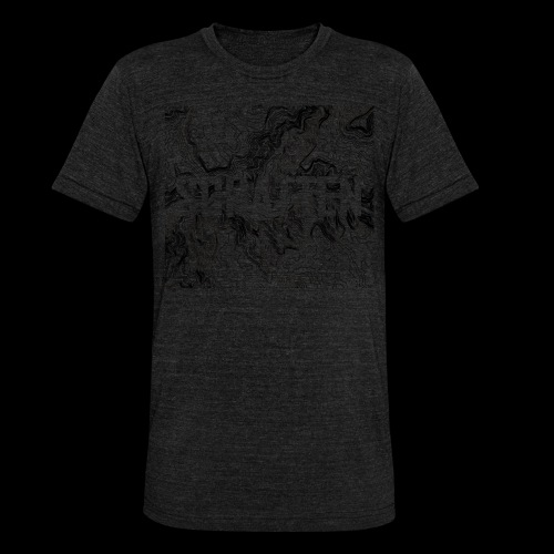 Hoehenlinien schwarz Schatten - Unisex Tri-Blend T-Shirt von Bella + Canvas