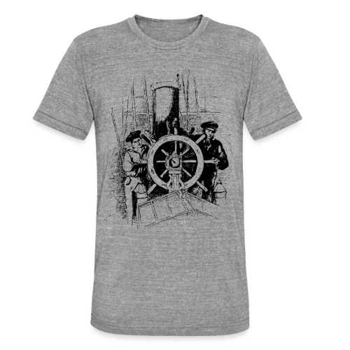 sailors at the helm - Unisex Tri-Blend T-Shirt by Bella & Canvas
