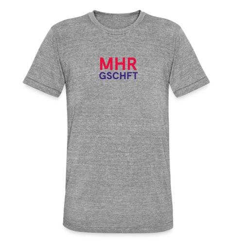 MHR GSCHFT (rot/blau) - Unisex Tri-Blend T-Shirt von Bella + Canvas