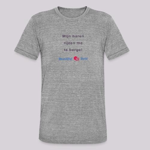 Mijn haren rijzen me te bergen b - Unisex tri-blend T-shirt van Bella + Canvas