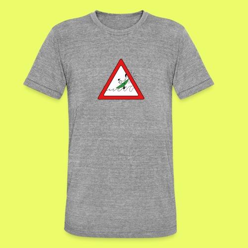 Kajak Unfall im Dreieck - Unisex Tri-Blend T-Shirt von Bella + Canvas