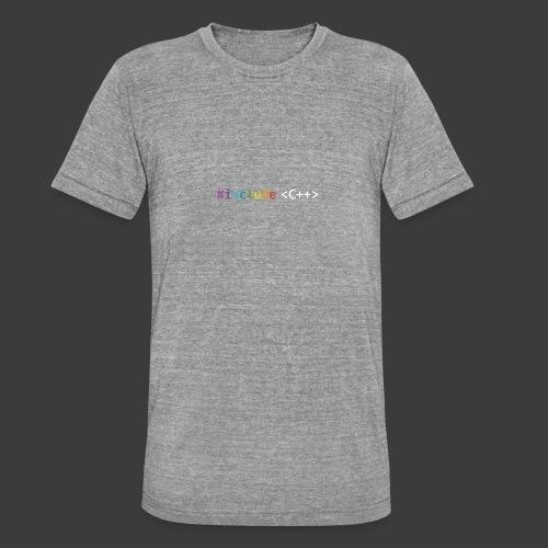 rainbow for dark background - Unisex Tri-Blend T-Shirt by Bella + Canvas
