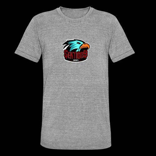 Sektion9 Logo Schwarz - Unisex Tri-Blend T-Shirt von Bella + Canvas