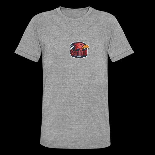 Sektion9 logo Rot - Unisex Tri-Blend T-Shirt von Bella + Canvas
