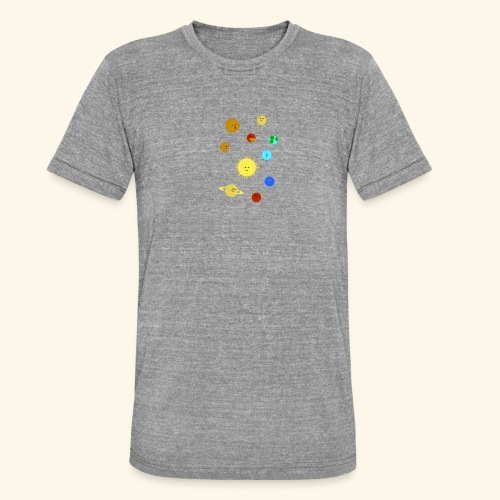 Solsystemet - Triblend-T-shirt unisex från Bella + Canvas