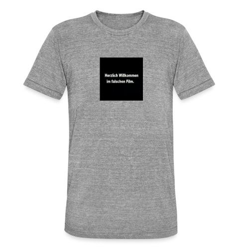 Willkommen im Falschen Film - Unisex Tri-Blend T-Shirt von Bella + Canvas