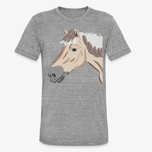 Fjord Pony - Unisex Tri-Blend T-Shirt von Bella + Canvas