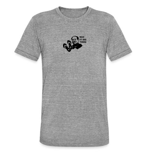 MAO et ses tongs - T-shirt chiné Bella + Canvas Unisexe
